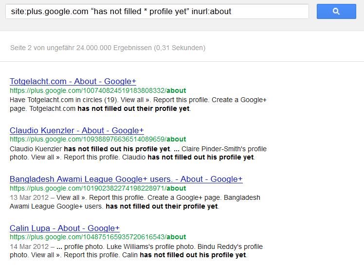 Google Plus Nutzerzahlen: Ermittlung der inaktiven Nutzer