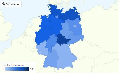schulervz.de Interessenverteilung Statistik 2011 nach Bundesländern