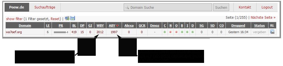 genaue expire zeit de domain feststellen